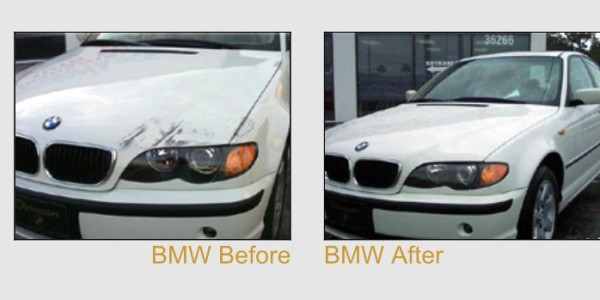 White BMW Repair – Before And After