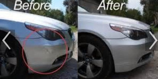 Before And After  – Front Right Bumper