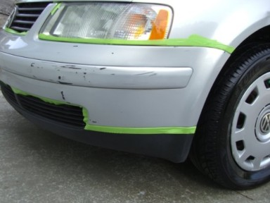 Bumper Repair – Before