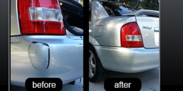 Left Rear Bumper Damage – Before And After